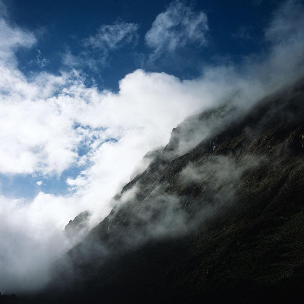 Quebrada Santa Cruz in the clouds