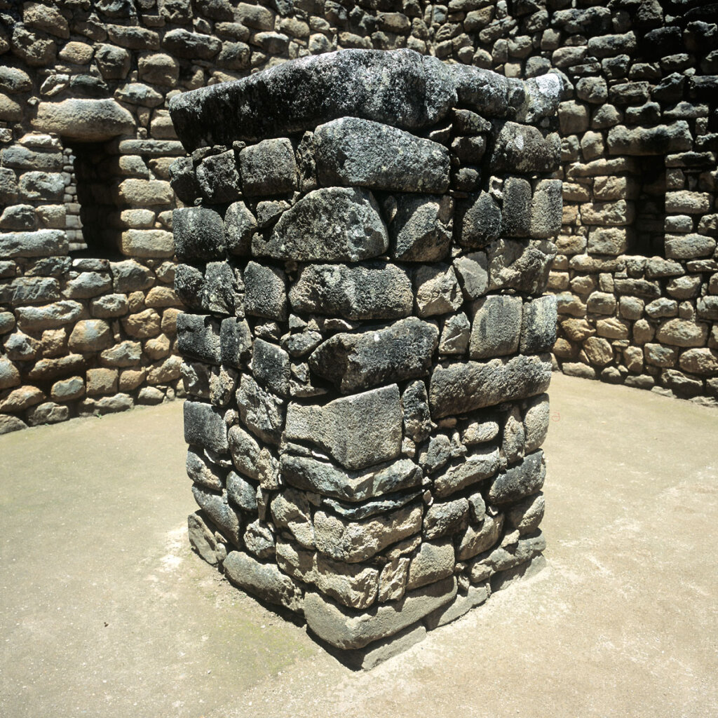 Dry Store Pillar in Machu Picchu