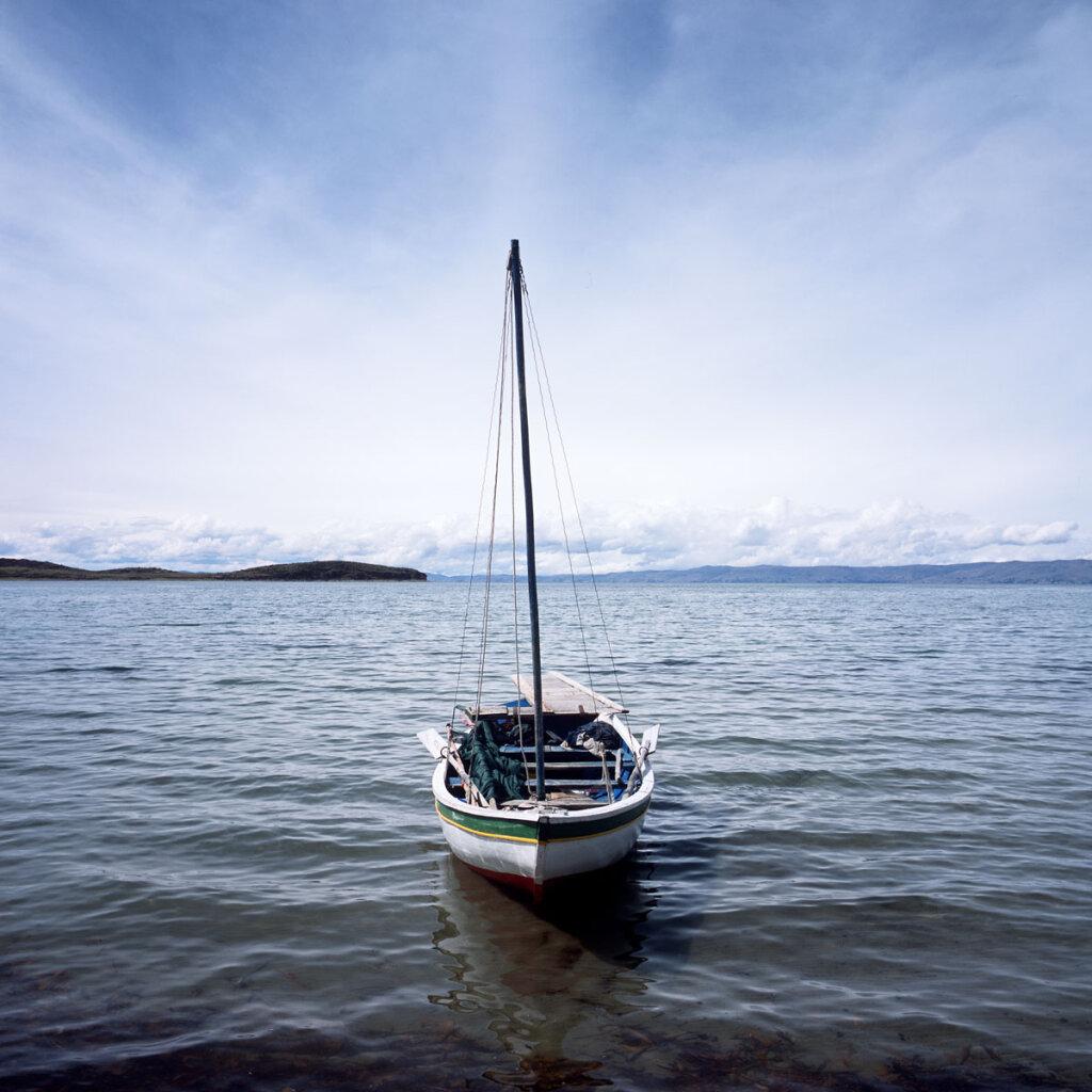 Fishing Boat on Lake Titicaca