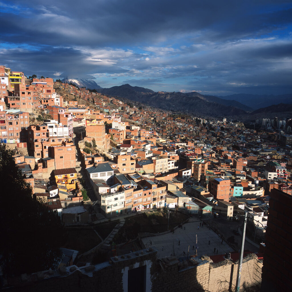 House covered hills of La Paz