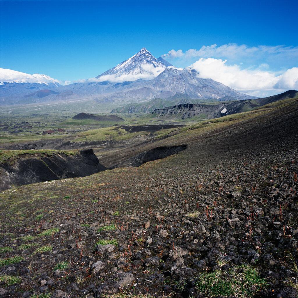 Klyuchevskoy and Kamen volcanoes