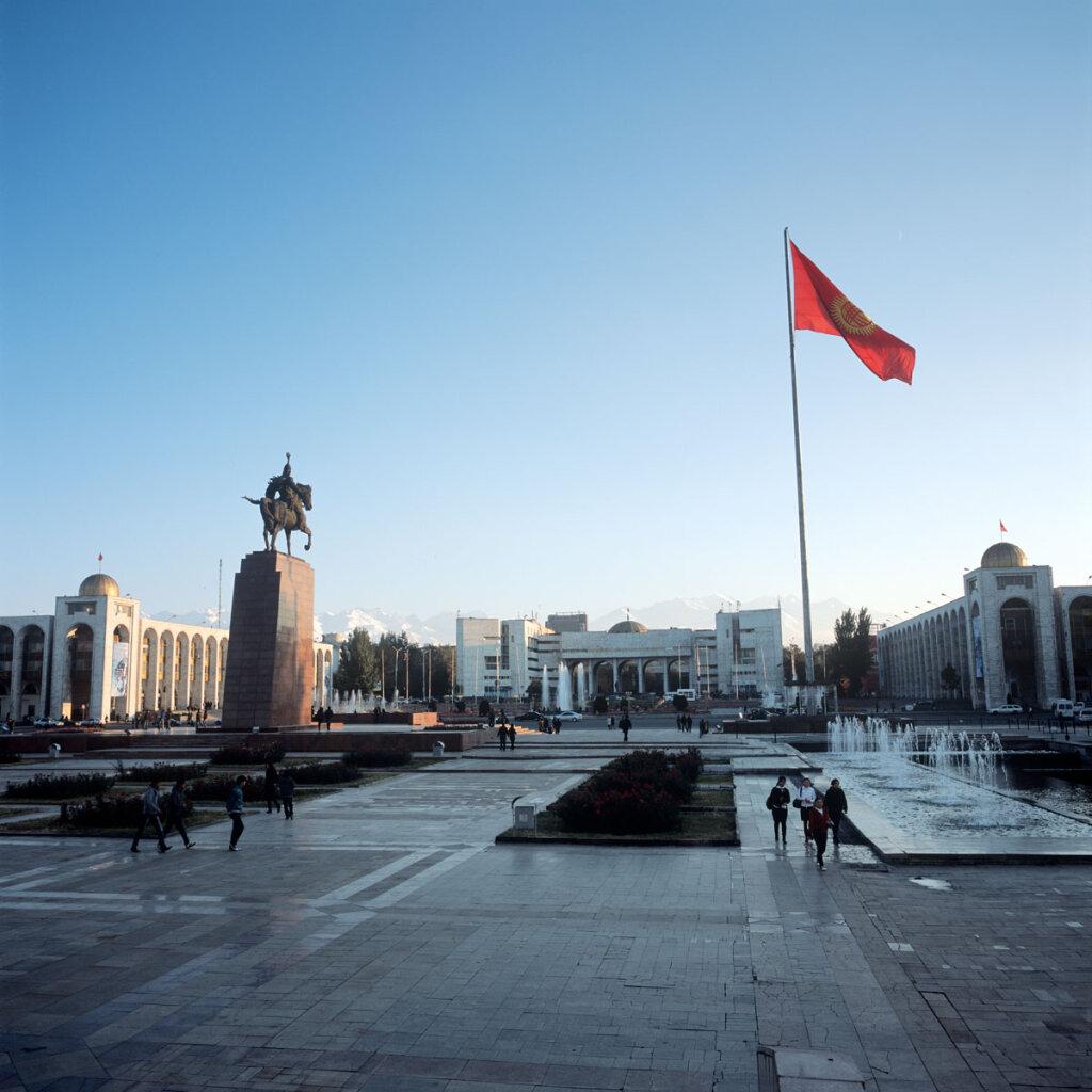 Ala-Too Square,the central square in Bishkek