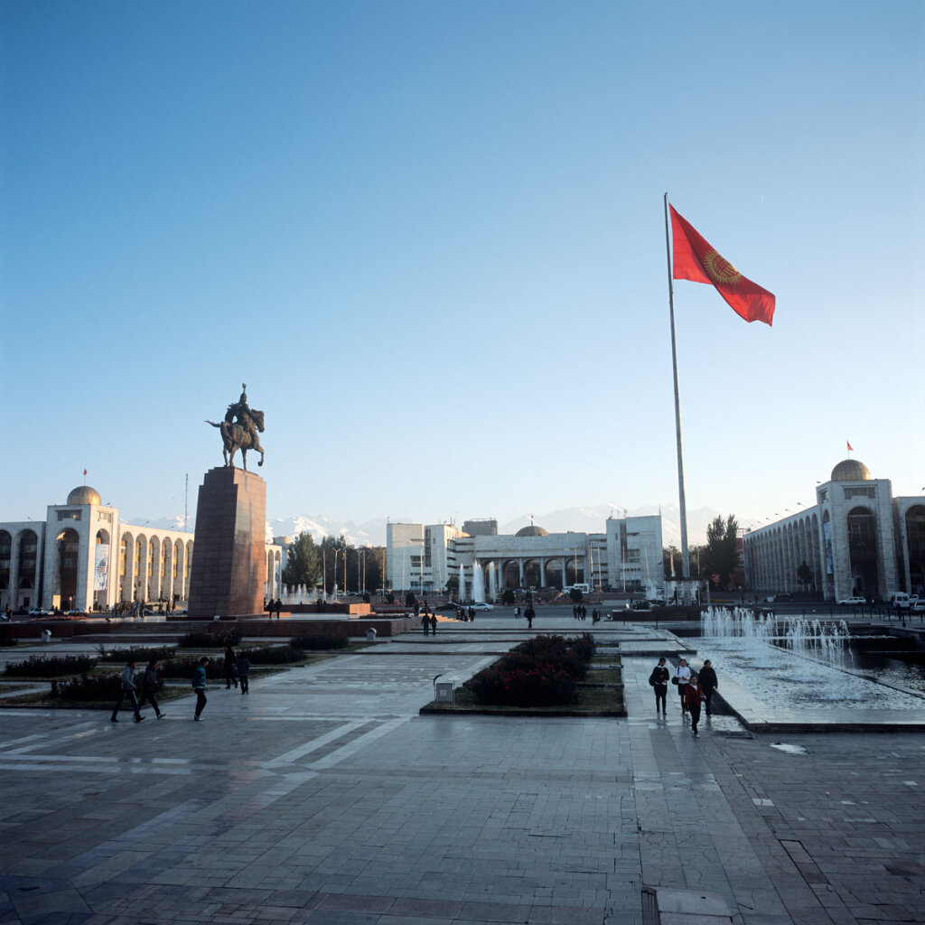 Ala-Too Square,the central square in Bishkek