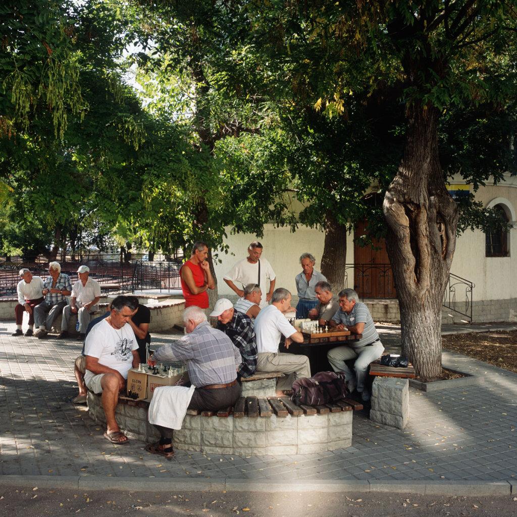 Chess players in Sevastopol