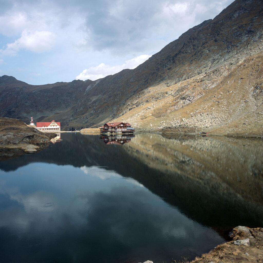 Bâlea lake and chalet