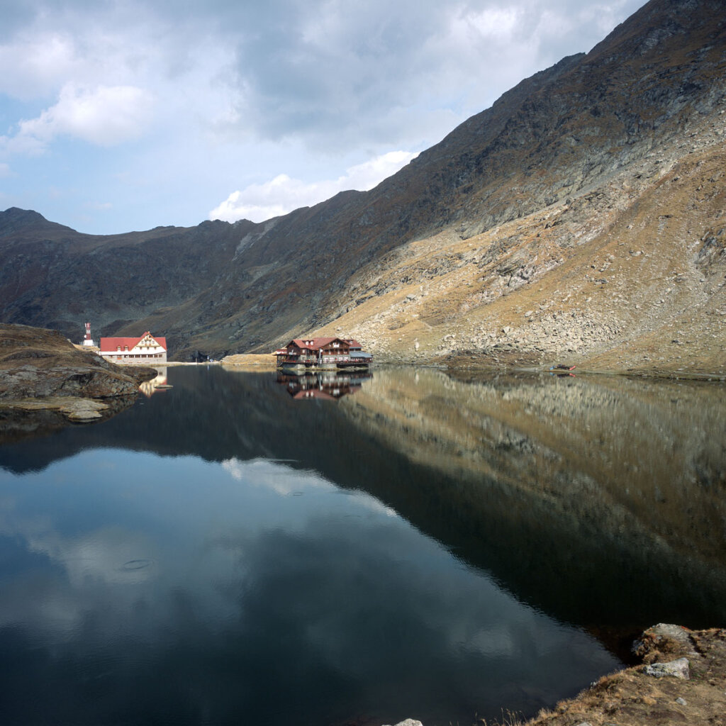 Bâlea lake and chalet