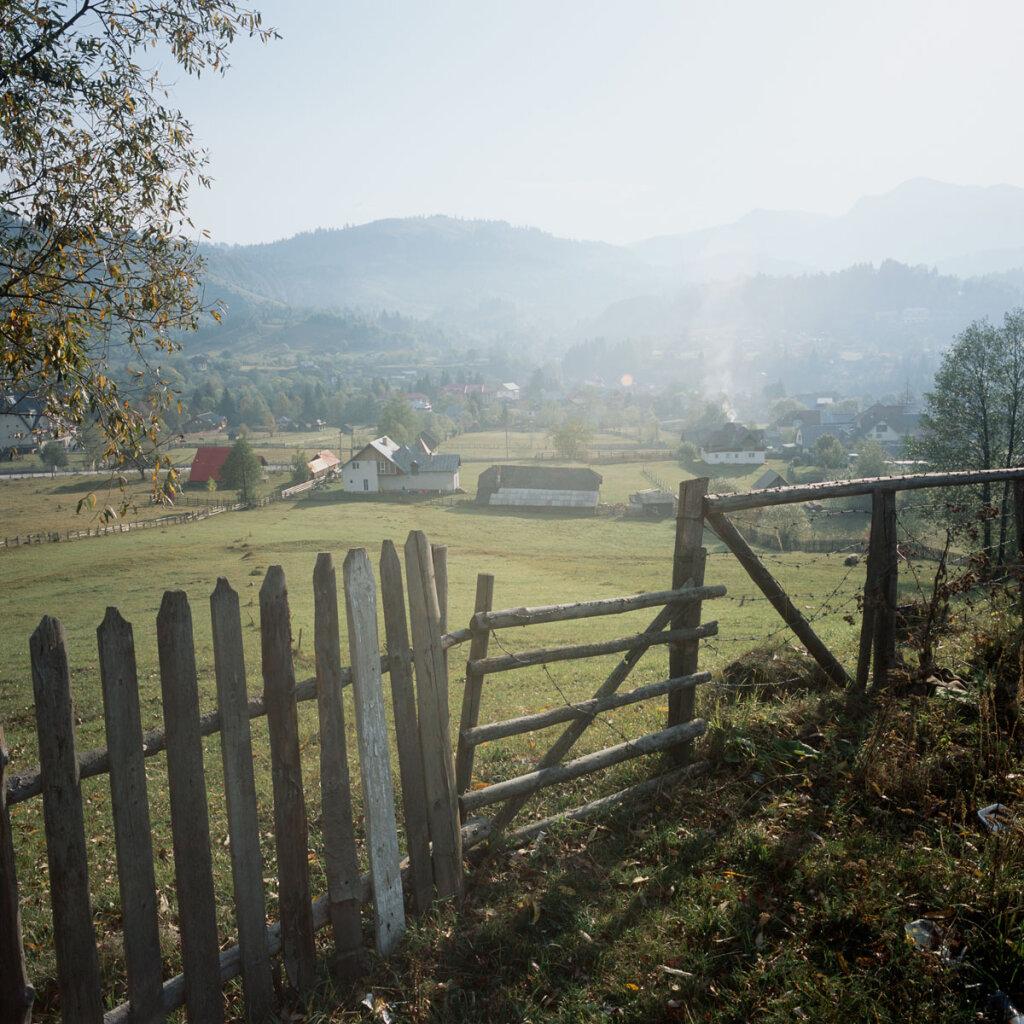 Haze over the Romanian countryside