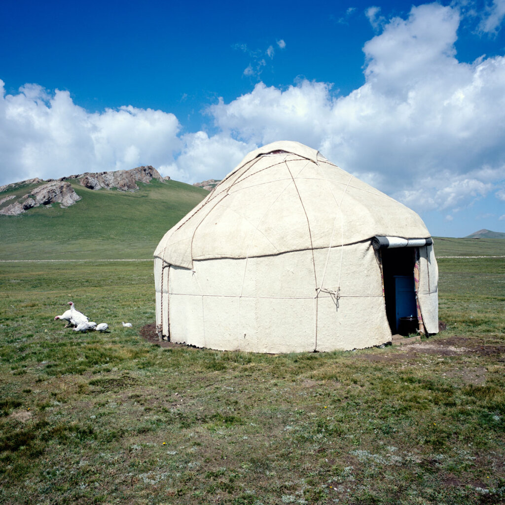 Yurt in the Song Köl Valley