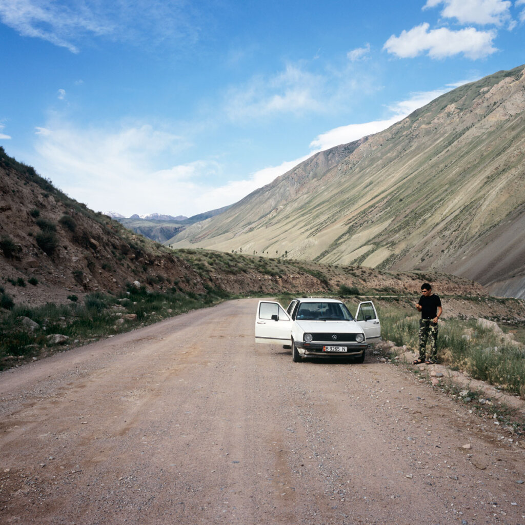 Our Car in Suusamyr Valley