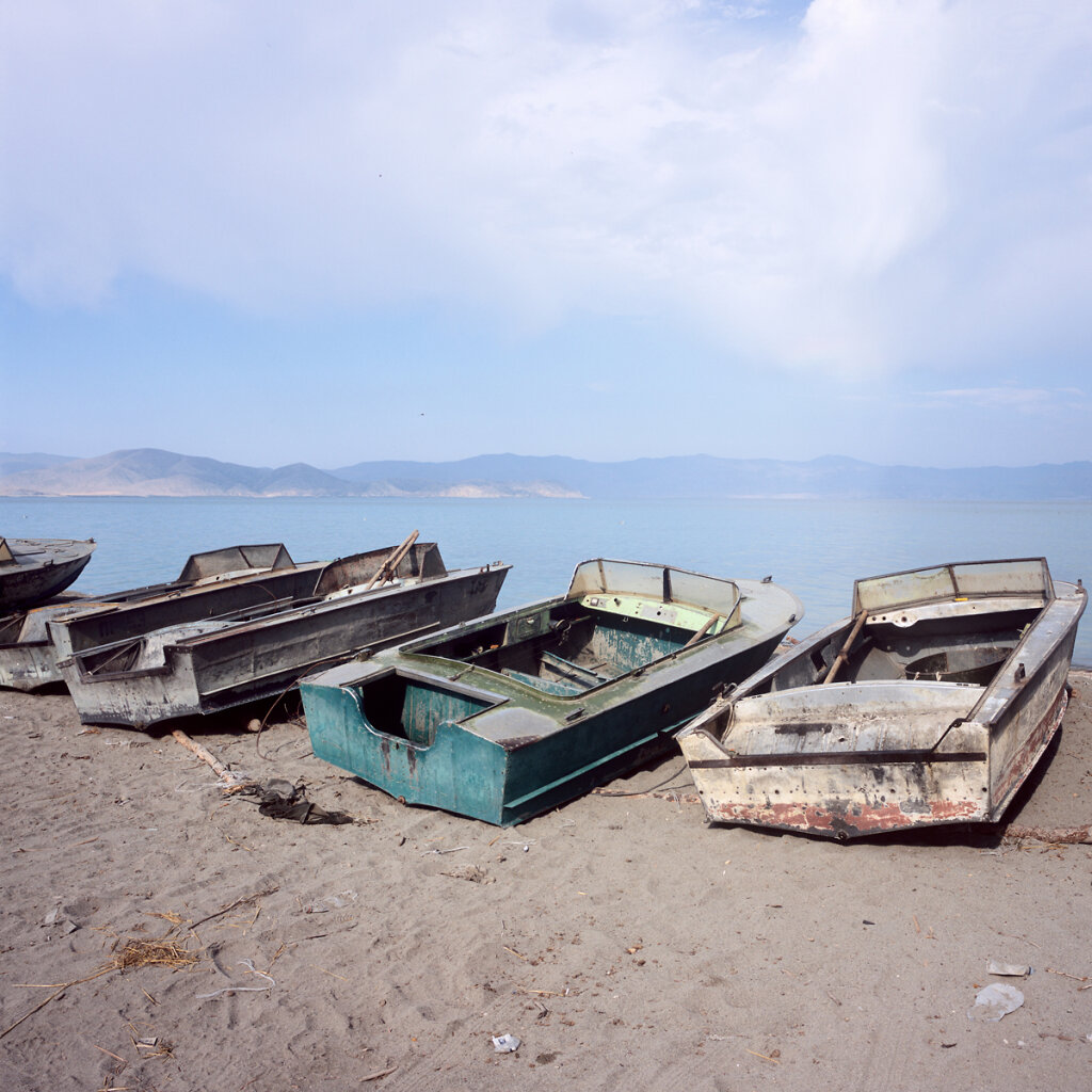 Fishing Boats on Lake Sevan