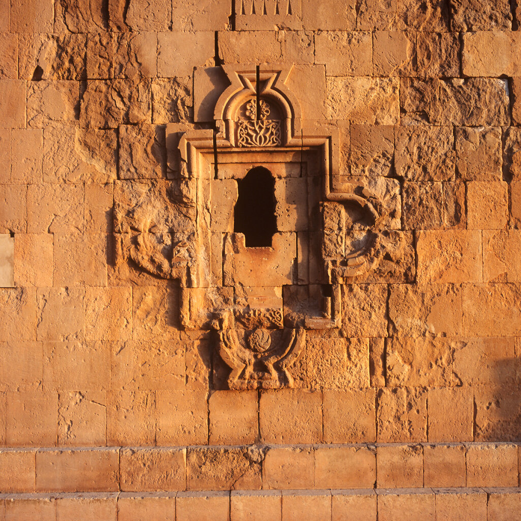 St.Astvatzatzin church wall detail, Noravank Monastery