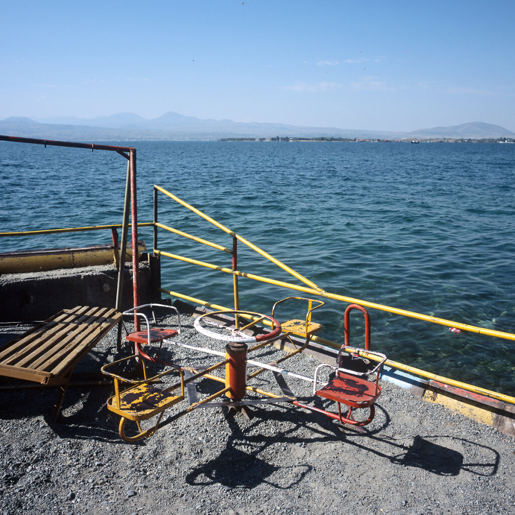 Children playground on tha shores of Lake Sevan