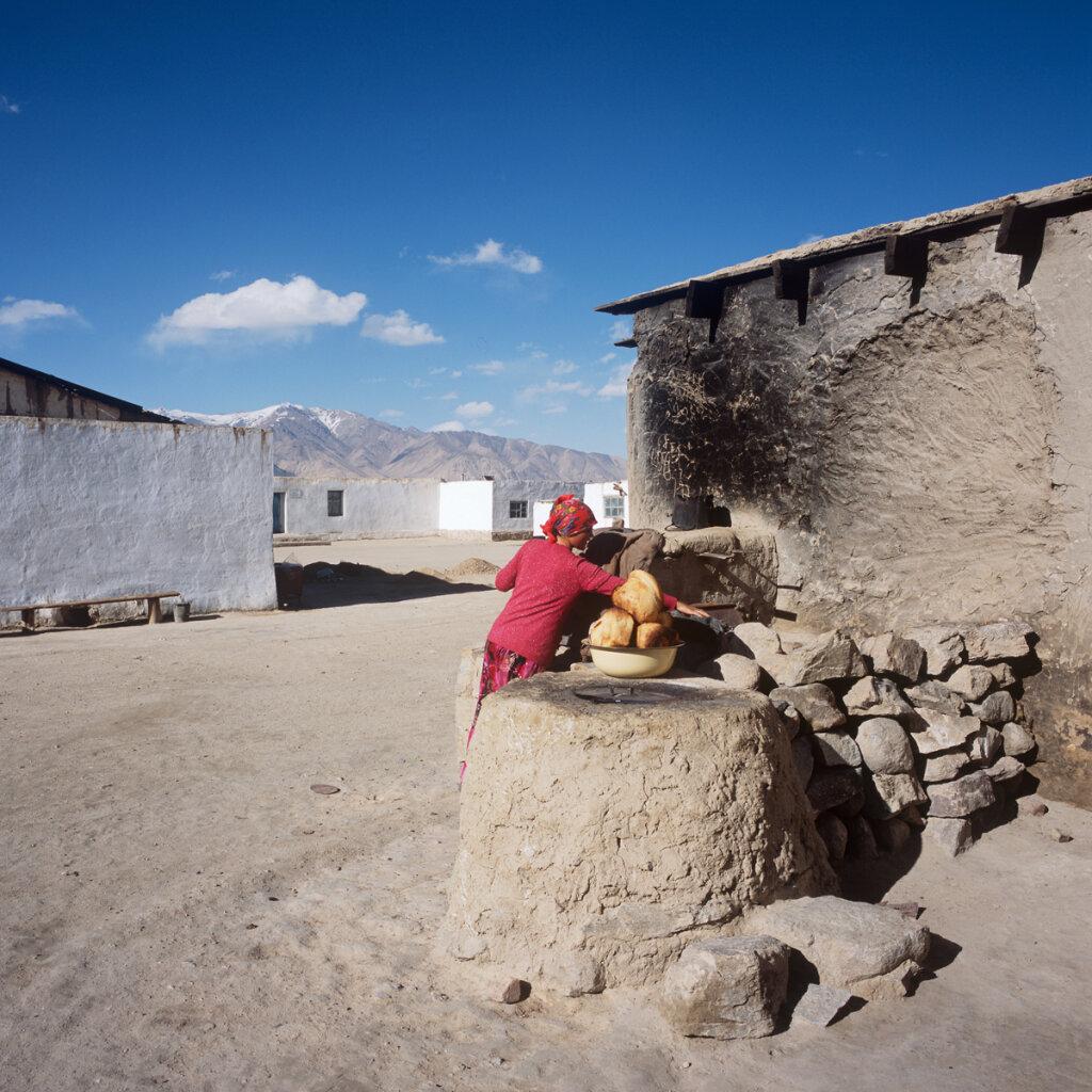 Bread Baking in the village of Bulunkul