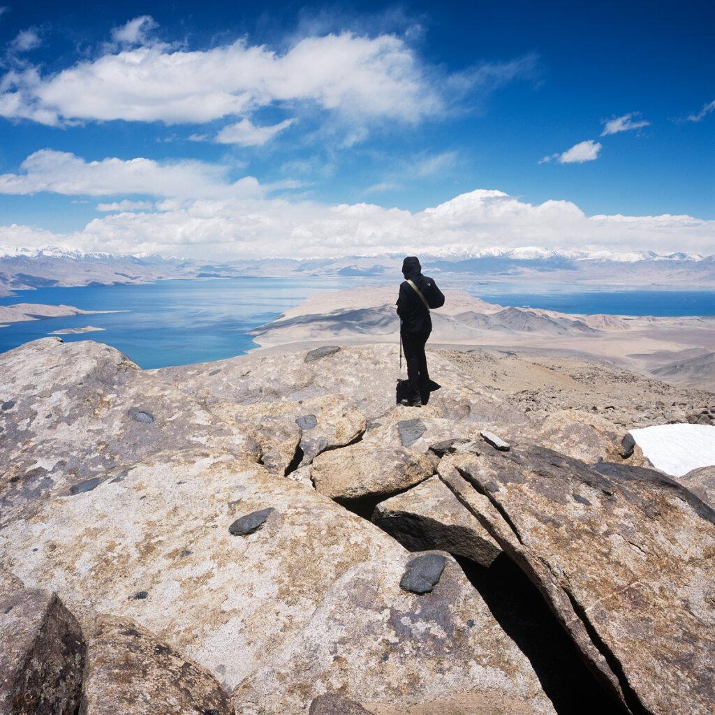 Lake Karakul from the top of the Peak Urtabuz
