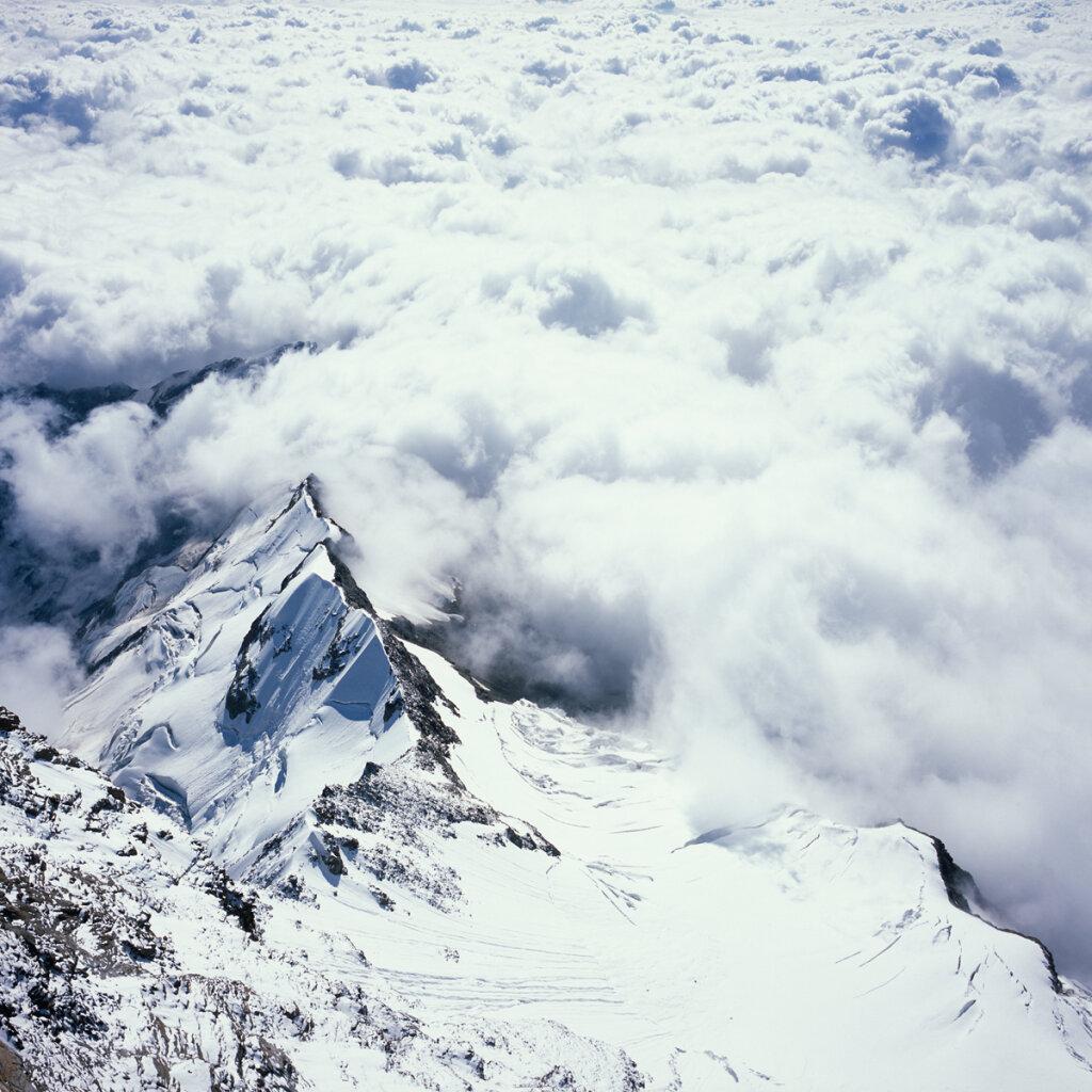 Sea of clouds from the Regina Margherita Hut