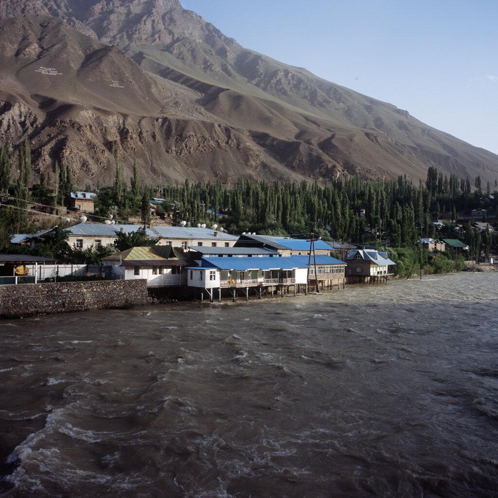 Panj River in Khorugh